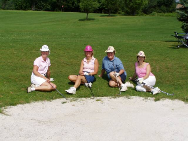 "Golf Outing players take a ""Beach"" break on the 11th hole!"